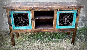Viviana Flat Screen TV Buffet in Turquoise