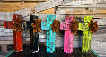 BCC-Large Cross with Rusty Rose