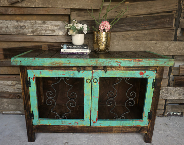 Fiesta Iron Door Buffet in Fiesta Turquoise