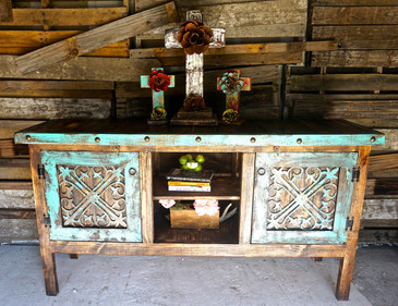 Reyna Buffet in Turquoise