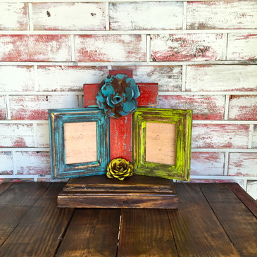 Cross Rustic Picture Frame