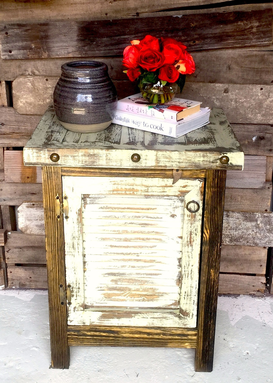 Antiguo Shutter Side Cabinet in White