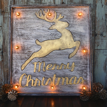 Merry Christmas Wood Marquee