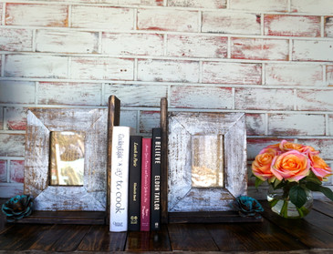 Picture frame bookend