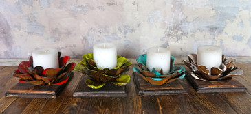 Florecita candle holder set of 4