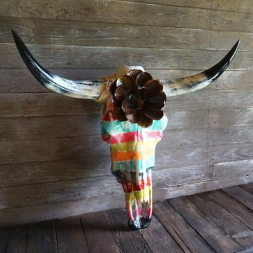Toro Grande Zarape Cow Skull