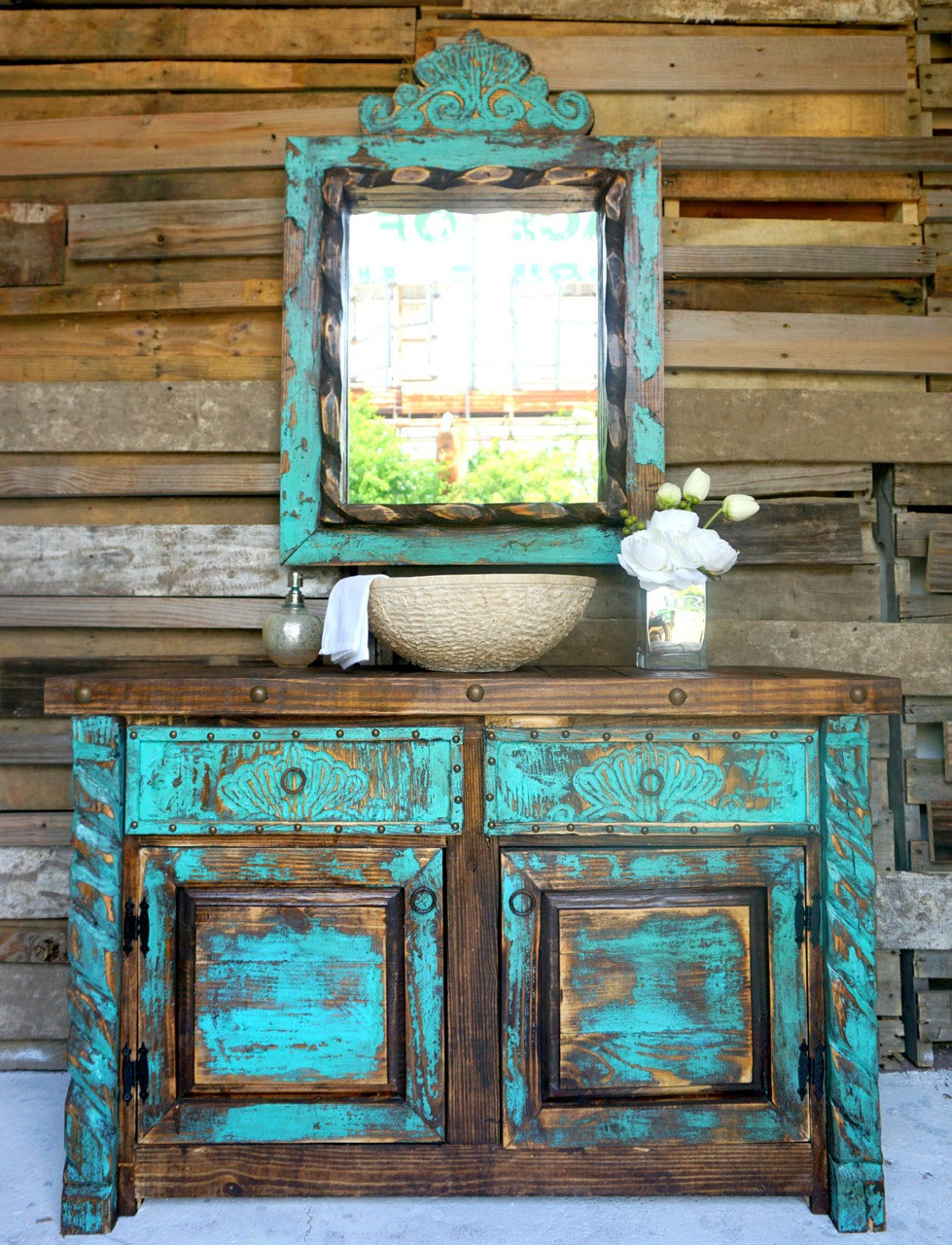 Agave Bathroom Vanity Sofias Rustic Furniture