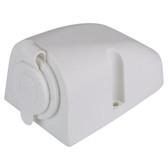 Single Cigarette Power Socket - White
