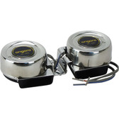 Stainless steel compact dual horn