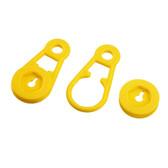 Master tarp clip 4 pack yellow