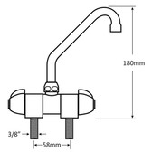 Tap faucet double folding