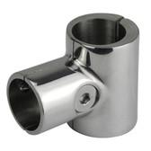 Stainless steel 90deg opening tee clamp
