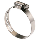 Hose clamp stainless steel perforated regular box of 10