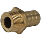 Bronze straight male bsp hose tail
