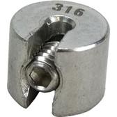 Stainless steel adjustable stop 316 grade