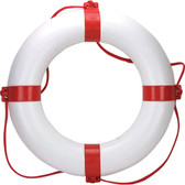 Lifebuoy ring red white