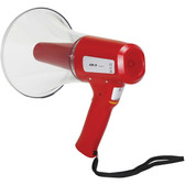 Show r megaphone hand type with siren