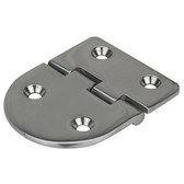 Flush mount cast stainless steel hinge round square 316g stainless steel