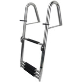 4 step folding telescopic ladder with hand rail stainless steel