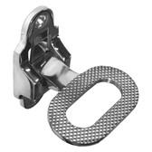 Folding mast transom step stainless steel