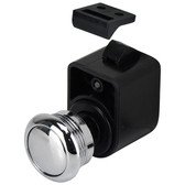 Self latching push button latch
