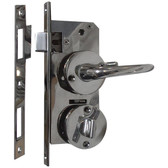 Stainless steel door and lock set 25 35mm