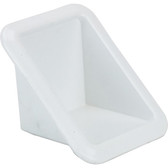 White plastic cases recess flush mount