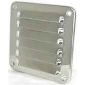 Stainless steel louvre vent rolled edges