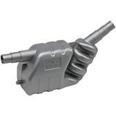 Exhaust waterlock silencers