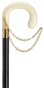 Decorative European Ladies crook Handle With Gold Chain