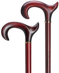 Ergonomic Handle Burgundy Maple Extra Long Walking Cane