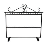 Metal Anklet Bracelet Chain Display Rack 2-Tier Black