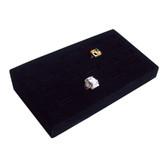 Ring Display Tray 18 Slot Ramp Black Velvet