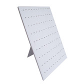 Body Jewelry Easel Display Panel 108 Clips White Leather
