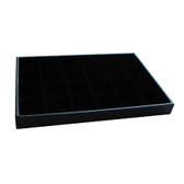 Compartment 24 Slot Bead Display Tray Black Velvet