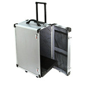 """Aluminum Collapsible Rolling Jewelry Carrying Case 26""""H"""