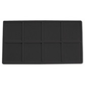 Flocked Tray Liner 8-Compartment Insert Black