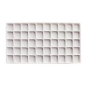 Flocked Tray Liner 50-Compartment Insert White