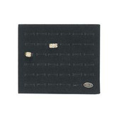 Half Size Tray Liner 36-Slot Ring Foam Black Velvet