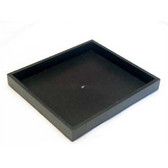 "Half Size Stackable Utility Tray Plastic Black 1""H"