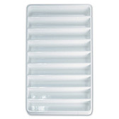 Stackable Display Compartment Tray 9-Section White