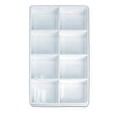 Stackable Display 8 Compartment Tray White