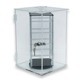 Acrylic Revolving Earring Display Showcase With Lock