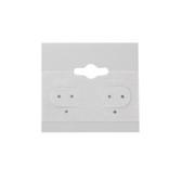 "100 Plastic Earring Hanging Card 1.5""X1.5"" Grey"