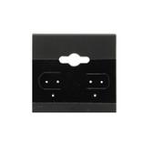 "100 Plastic Earring Hanging Card 1.5""X1.5"" Black"