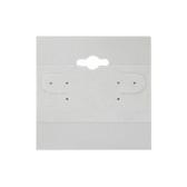 "100 Plastic Earring Hanging Card 2""X2"" Grey"