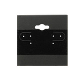"100 Plastic Earring Hanging Card 2""X2"" Black"
