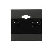 "100 Plastic Earring Hanging Card 2""X2"" Black"