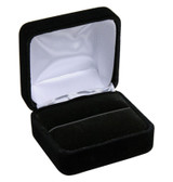 12 Flocked Velour Ring Jewelry Gift Box Black
