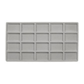 Flocked Tray Liner 20-Compartment Insert Grey